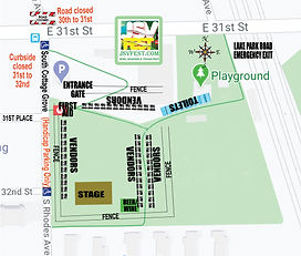 Map- Site  Lake Meadow Park- 3117 S. Rho