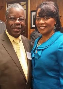Ephraim Martin and Rev Bernice King daughter of Dr. Martin Luther King Jr