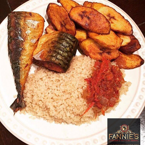 *Attieke with Grilled or Fried Fish/Chicken