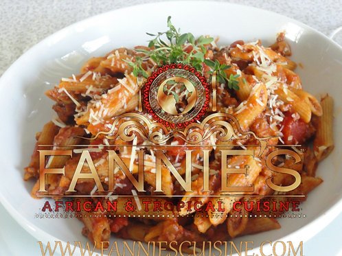 Red Whole Wheat Penne ( Braised Chicken)