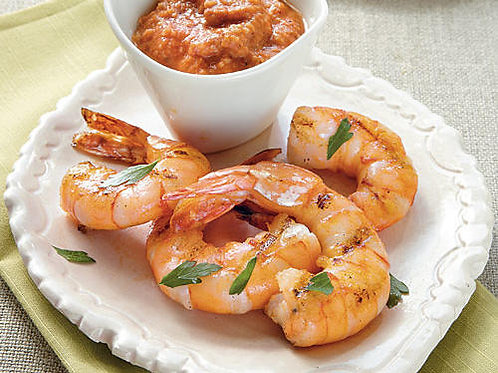 Roasted Shrimp with sauce
