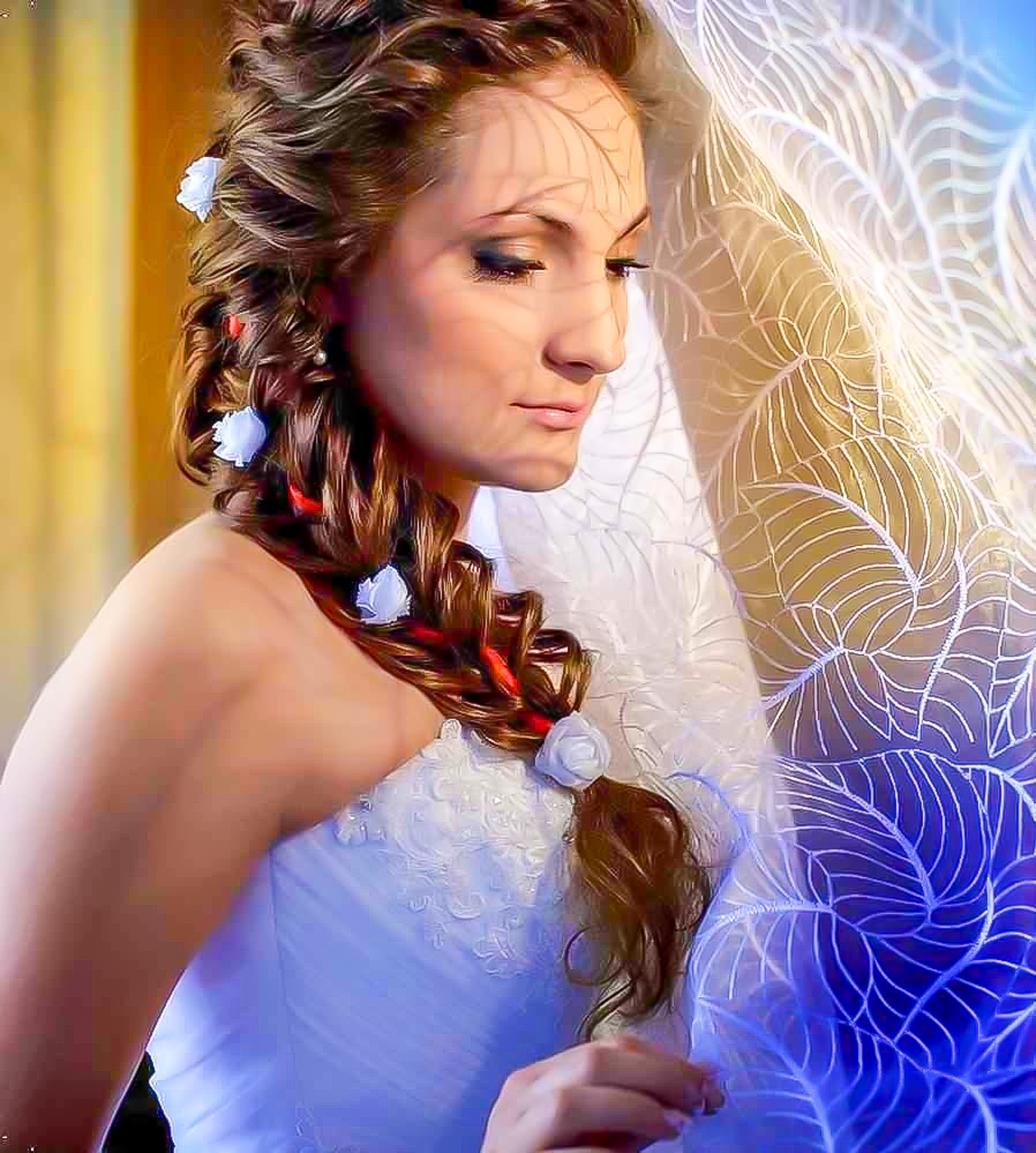 Свадебная прическа. Свадебный макияж