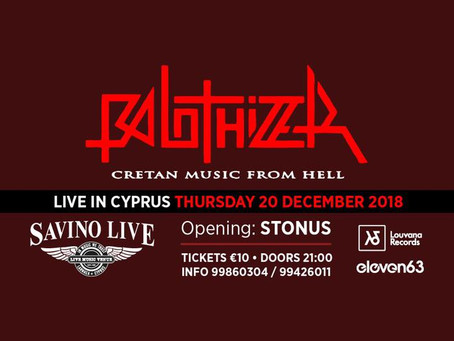 Live Review; Balothizer @ Savino Live, 20/12/18 (opening act: Stonus)