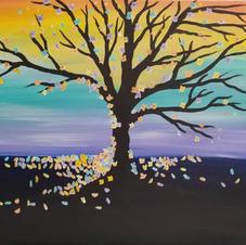 Pastel Tree Sunset