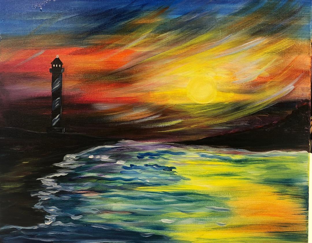Lighthouse Sunset (Online)