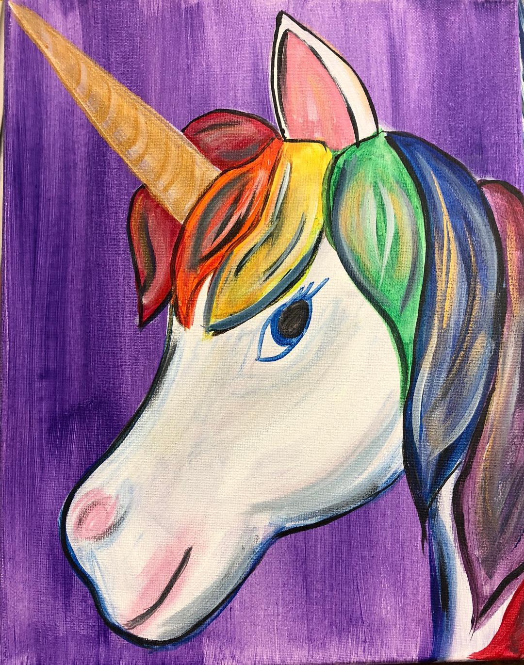 Unicorn with Glitter Horn