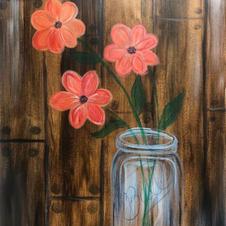 Flowers in Ball Jar