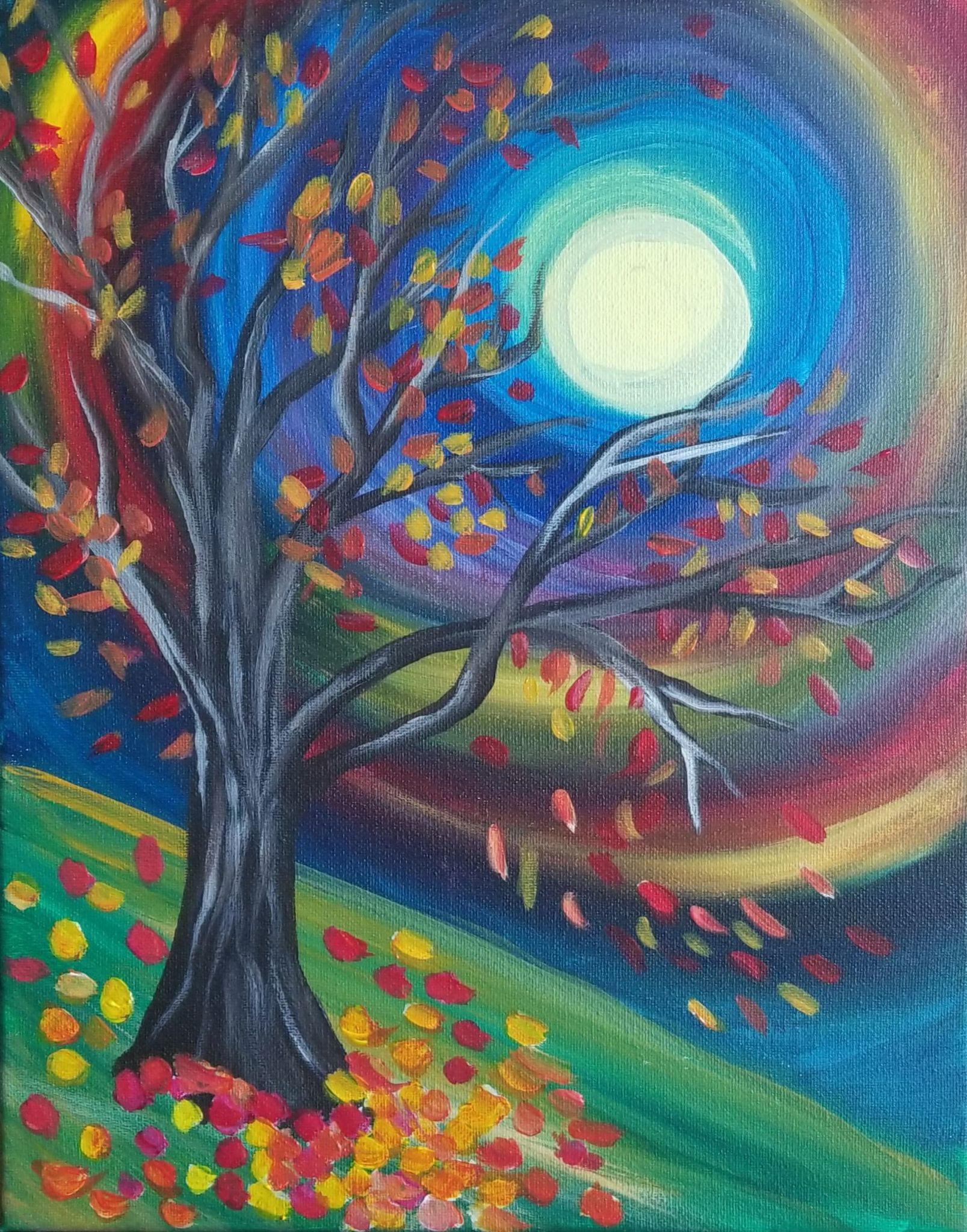 Fall Tree Hillside (Online)