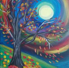 Fall Tree Hillside