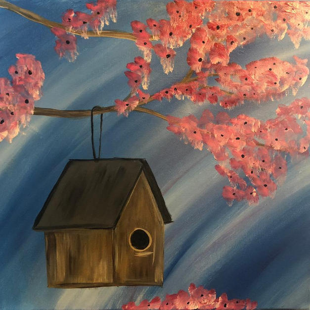 Spring Tree Birdhouse