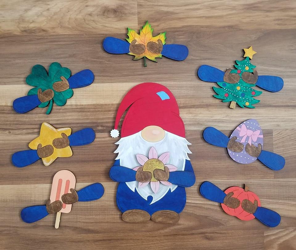 Gnome Holiday Wood Kit
