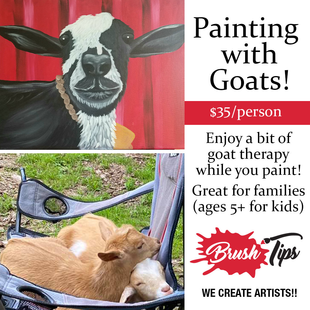Painting with Goats!
