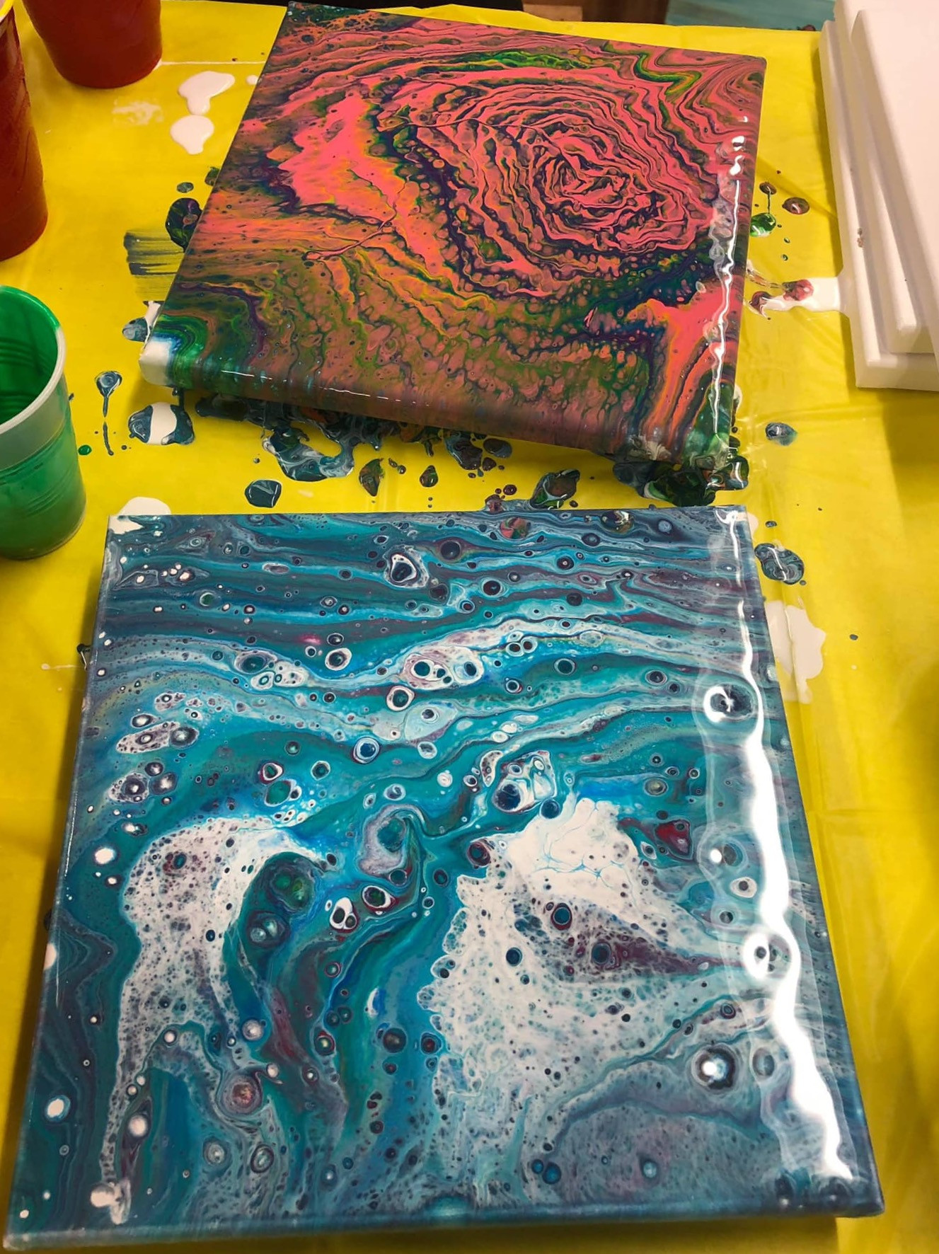 Adult Pour Painting