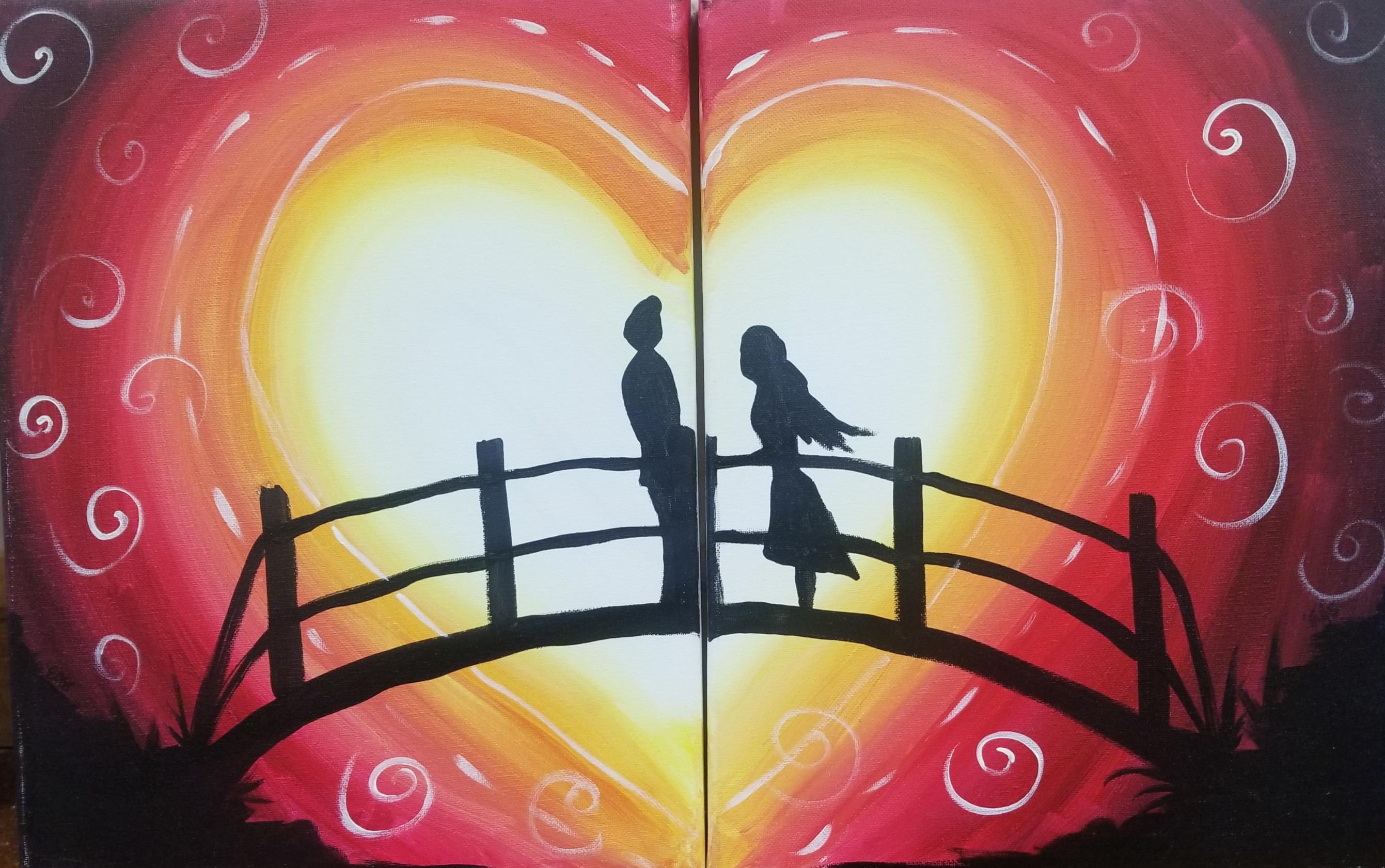 Couples Bridge of Love