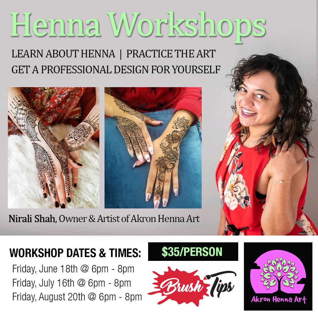 Henna Workshops with Nirali