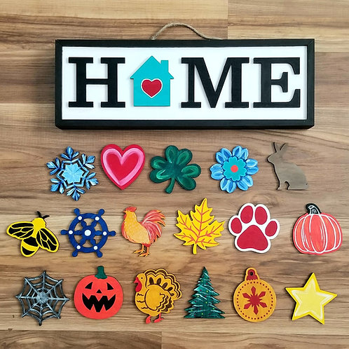 Painted Home Sign Kit