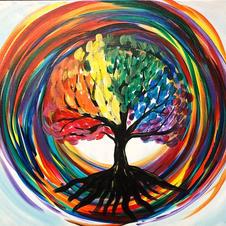Rainbow Swirl Tree