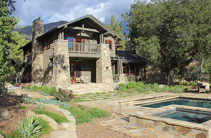 Ojai, contractor, Chad, Carper, stone, wood, beams, ceiling, walls, custom, luxury, quality, house, design, California