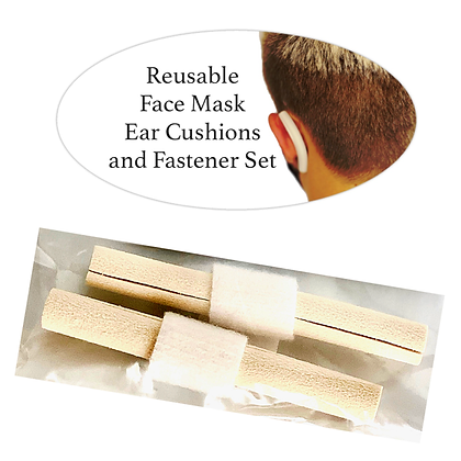 Reusable Face Mask Ear Cushions and Fastener Set