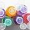 Thumbnail: Set of 4 Travel Plastic Flip Top PET Bottles 3.4 oz (100 ml)