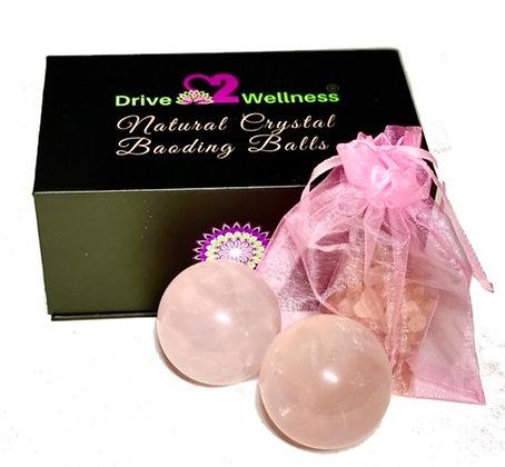 Rose Quartz Baoding Healing Balls