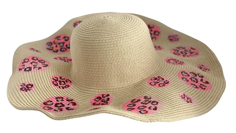 Sombrero circulos print rosados