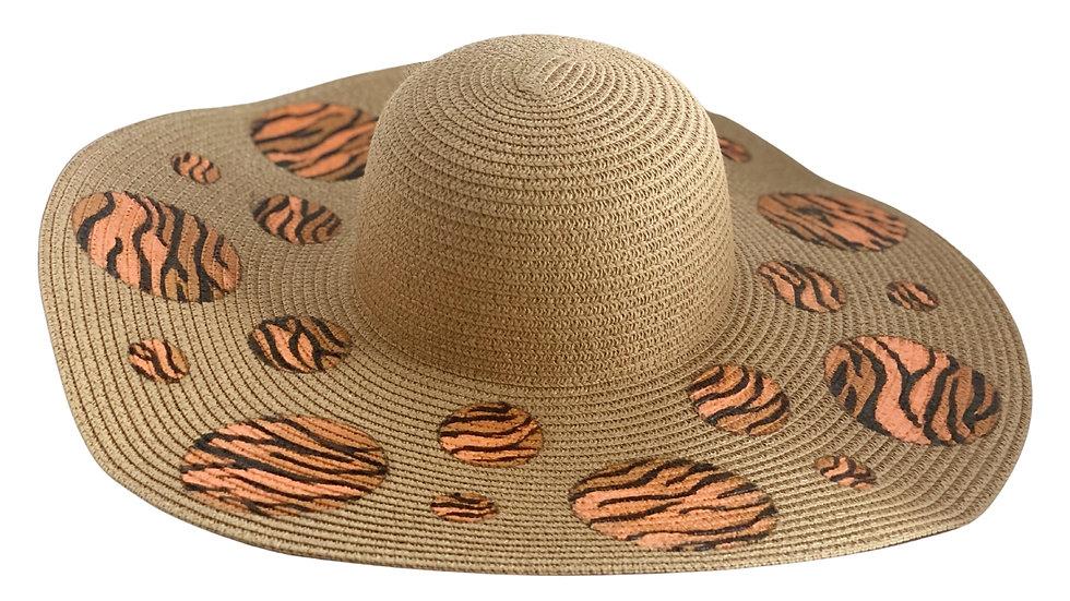 Sombrero circulo animal print tigre