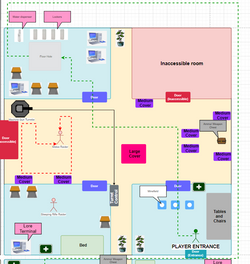 Dunwich warehouse Interior Map