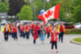Burlington Junior Redcoats Marching