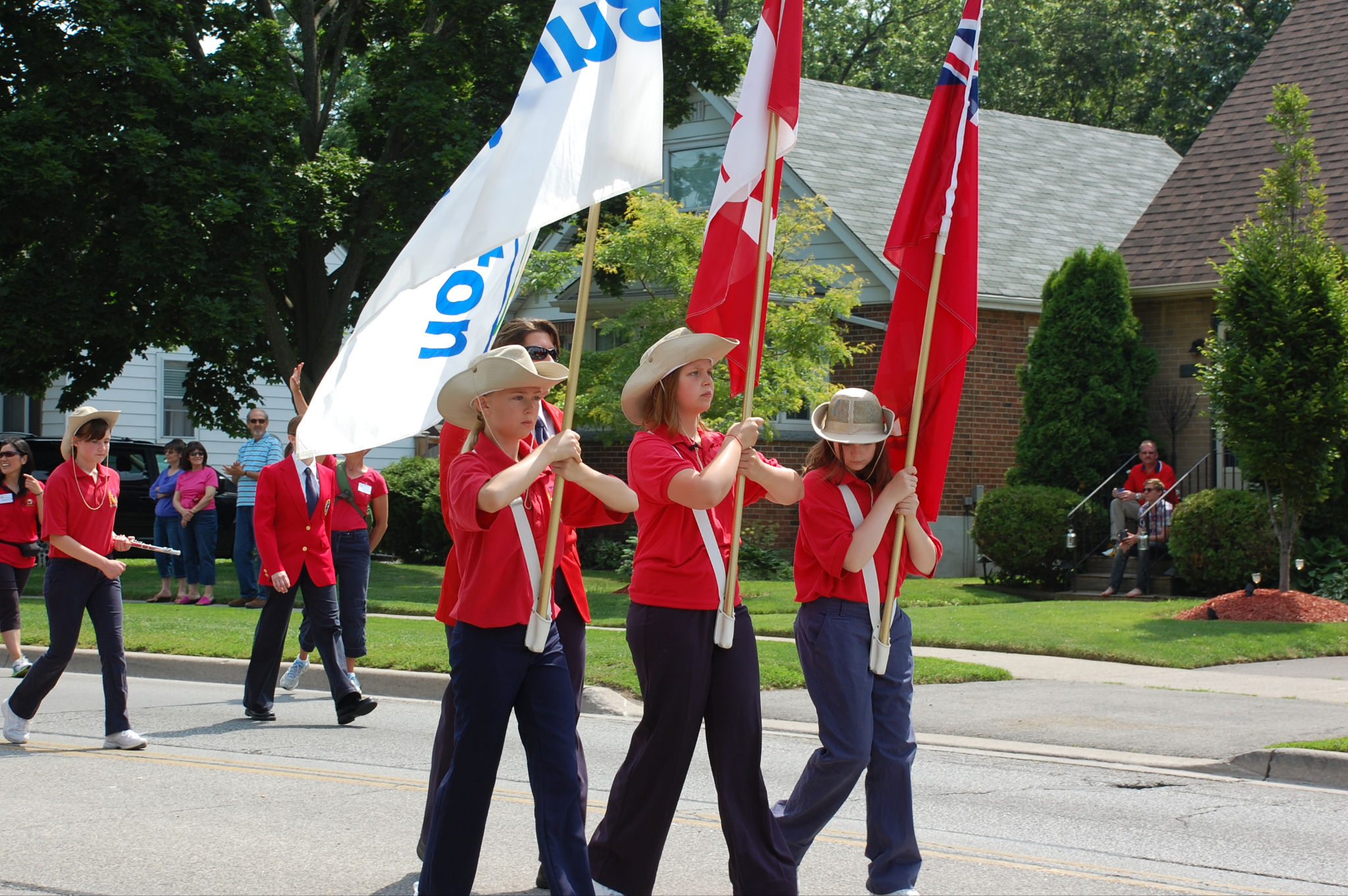 Colour Guard on Parade