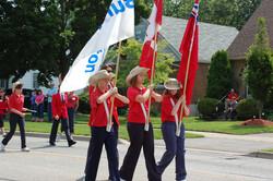 Colour Guard on Parade