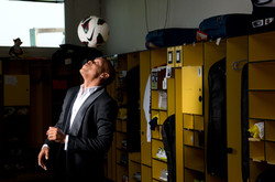 styist editorial soccer player