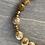 Thumbnail: Carmel Agate Brass Bead Bracelet