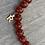 Thumbnail: Coral Bead Inital Bracelet
