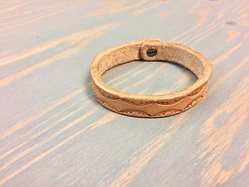 Narrow Tooled Bracelet