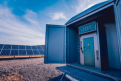Inverter and store energy building. Sola
