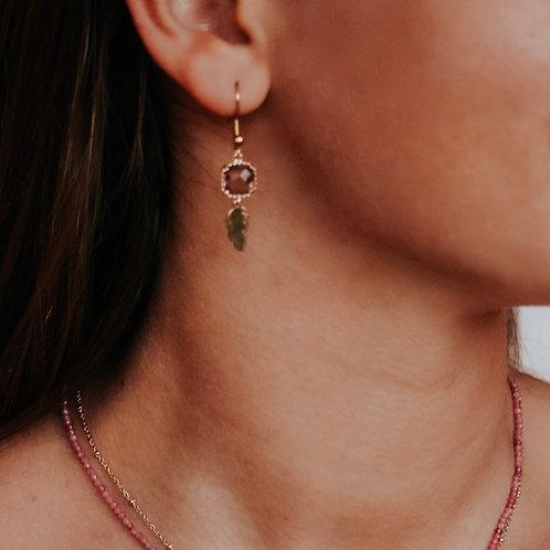 Cristal Leaf Earrings