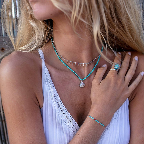 Stripes Silver Necklace