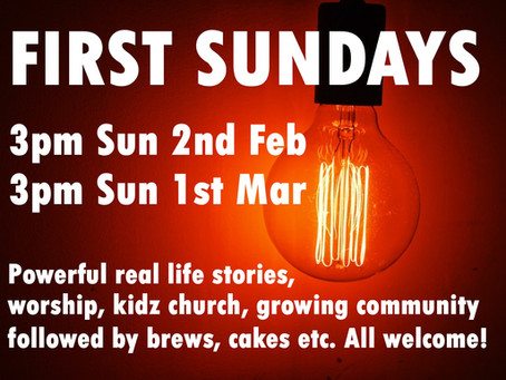 First Sundays - 10.30am / 3pm