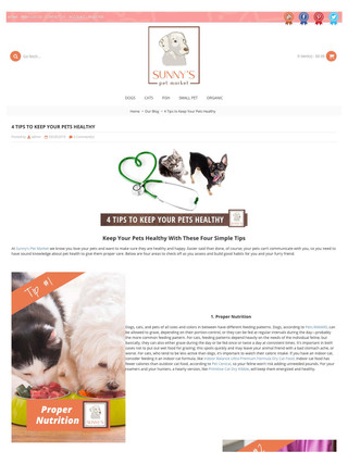 4 Tips to Keep your Pet Healthy