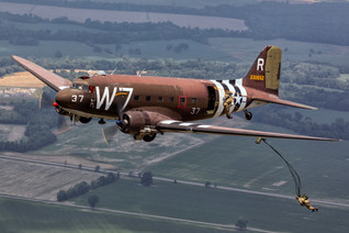 """Jumpers Away!  C-47 """"W7"""""""