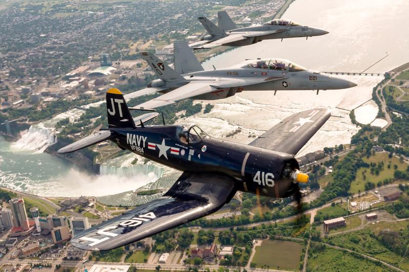 US Navy Legacy Flight over Niagara Falls