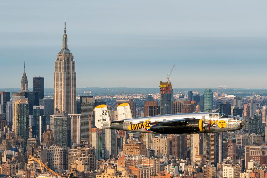 """Miss Happ"" over Manhattan"