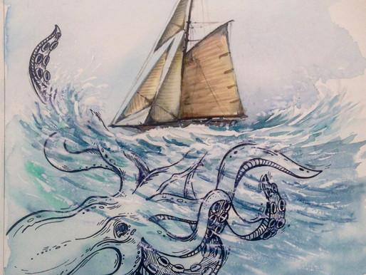 Про морских чудовищ...