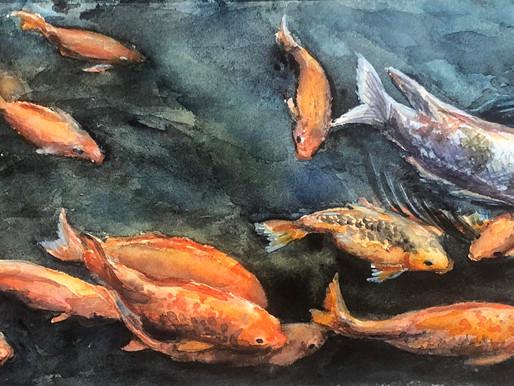 Золотые рыбки и немного процесса
