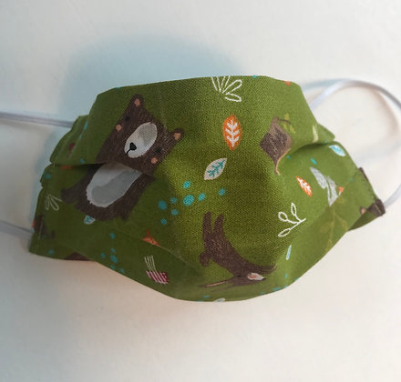 Youth Bear and Bunny, Pleated Mask