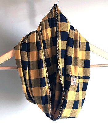 Inside-Out Scarf - Mustard Plaid