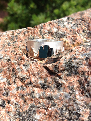 Sterling Silver-Men's Mountain Ring