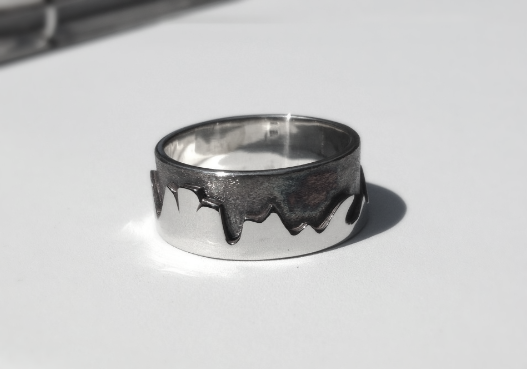 Gunmetal Grey-Women's Mountain Ring