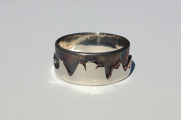 Gunmetal Grey-Men's Mountain Ring